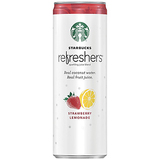 Starbucks Refreshers, Strawberry Lemonade with Coconut Water, 12 Pack