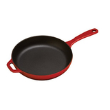 Lodge EC11S43 Enameled Cast Iron Skillet, 11-inch, Red