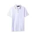 A|X Armani Exchange Men's AX Short Sleeve Jersey Knit Polo - White