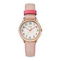 Timex Women's Easy Reader Small Pink/Rose Gold-Tone Leather Strap Watch