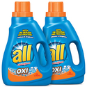 all Liquid Laundry Detergent with OXI Stain Removers and Whiteners-2ct
