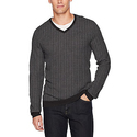 Calvin Klein Men's Merino Herringbone V-Neck Sweater - Small
