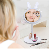 Excelvan Vanity Makeup Mirror with Light and Storage Table Lamp
