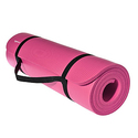 AmazonBasics 1/2-Inch Extra Thick Exercise Mat with Carrying Strap - Pink