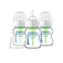 Dr. Brown's Options Wide 3 Piece Neck Glass Bottle, 5 Ounce