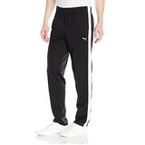 PUMA Men's Contrast Pants, Black White, M