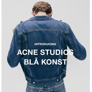 Ssense: Acne Studios Blå Konst New Arrivals