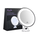 "KEDSUM 6.8"" 10x Magnifying LED Lighted Makeup Mirror"