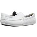 Rockport Men's Bennett Lane 4 Venetian Shoe, White Leather, 7 M US