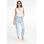 Denim High Rise Straight Jeans