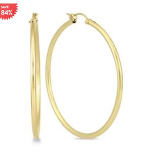 14K Yellow Gold Filled Hoop Earrings