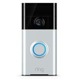 Ring Wi-Fi Enabled Video Doorbell, Satin Nickel