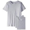 Lacoste Men's Essentials Cotton Crew Neck T-Shirt, Grey, Medium (Pack of 3)