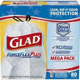 Glad ForceFlexPlus Tall Kitchen Drawstring Trash Bags 13 Gallon - 80 Count