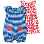 3-pc Dress & Romper Set