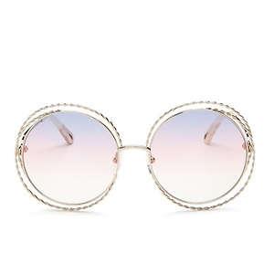 c7c746bc0ab Chloé Carlina Torsade Oversized Round Sunglasses