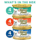 Purina Fancy Feast Classic Seafood Feast Collection Cat Food - (2 packs of 12) 3 oz. Cans