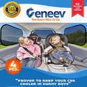 Veneev Car Sun Shade for Side and Rear Window 4-Pack