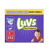 Luvs 超级防漏婴儿尿布1号 252片