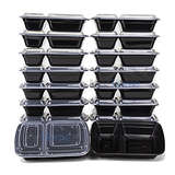 Misc Home 2 Compartment Meal Prep Containers 18pk