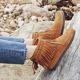 Minnetonka Women's Back-Zip Boot,Dusty Brown,5.5 M US