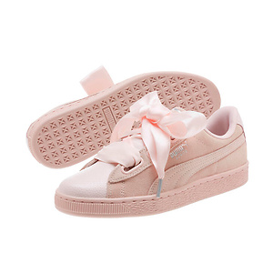 PUMA Suede Heart Bubble Women's Sneakers - Pearl