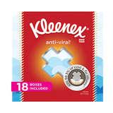Kleenex Anti-Viral Facial Tissues 68 Tissue * 18 Packs