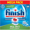 94ct Finish All in 1 Dishwasher Detergent Powerball Dishwashing Tablets - Dish Tabs