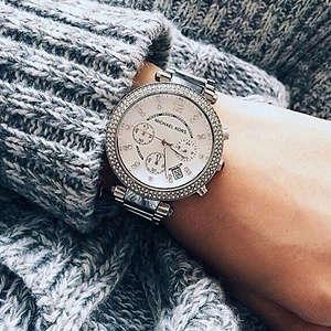 785e48941d57 Michael Kors Women s Parker Silver-Tone Watch MK5353  114.52 was  275 58%  OFF