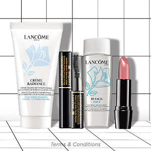 Lancome: 4 Pieces of Gifts with Purchases on order of $49+