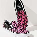 Vans 粉色豹纹帆布鞋