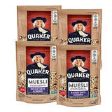 Quaker Raisin Date Almond Muesli 16oz Bag * 4 Count