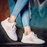 New Balance Women's 247v1 Sneaker, White/Pink