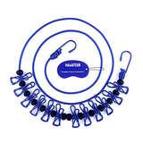 HAWATOUR 便携式晾衣绳(带12个夹子)