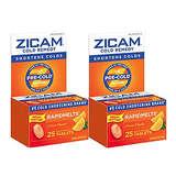Zicam Cold Remedy RapidMelts Citrus Flavor Quick Dissolve Tablets 25 Count - Pack of 2