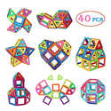 Manve 40 Pcs Magnet Building Tiles