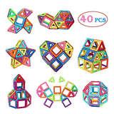Manve 40 Pcs Magnet Building Tiles