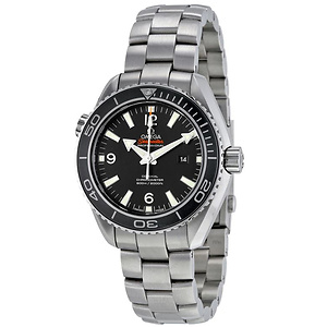 Omega Seamaster Planet Ocean 600M Automatic Chronometer Black Dial Mid-Size Watch
