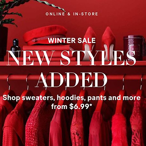 H&M Winter Sale: Select Styles up to 60% OFF