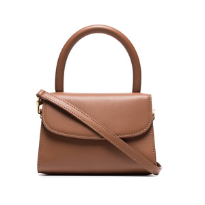 BY FAR brown Mini leather cross body bag