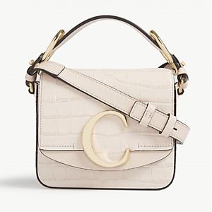 CHLOE Mini Chloé C leather shoulder bag