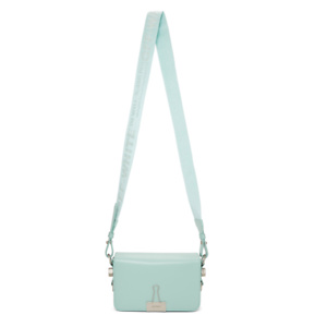 Off-White  Blue Mini Flap Bag
