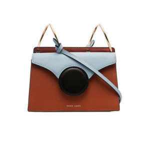 DANSE LENTE brown and blue Phoebe mini leather crossbody bag