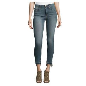 FRAME Released Stagger-Hem Skinny Jeans, Merrick