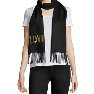 Gucci Loved Sequined Silk & Cashmere Scarf