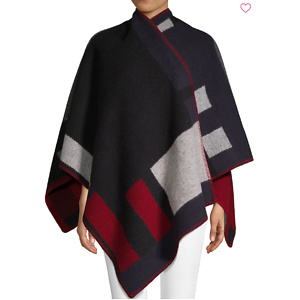Burberry Geometric-Print Wool & Cashmere Poncho