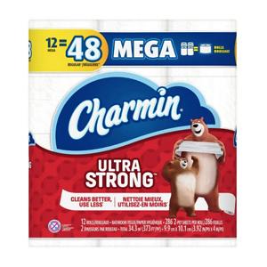 54Ct Charmin Ultra Strong Toilet Paper Mega Rolls