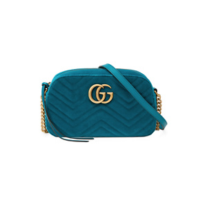 Gucci GG Marmont Small Velvet Camera Bag