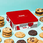 fresh baked assorted cookies tin