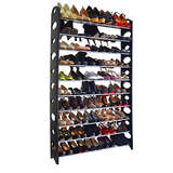 10-Tier 50 Pair Stackable Shoe Rack